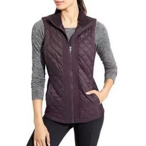 Athleta | Rock Springs Purple Quilted Vest